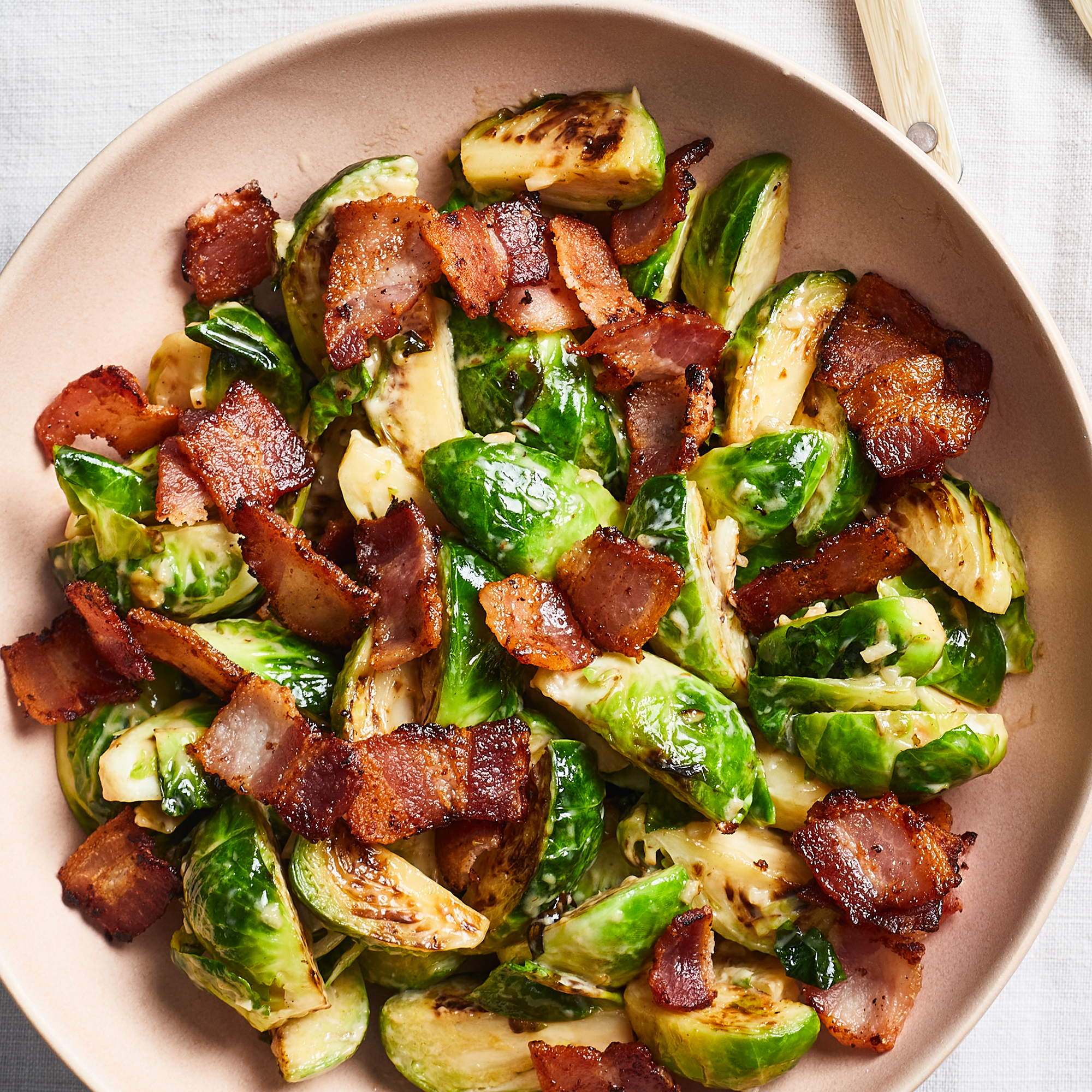 Brussels Sprouts with Vermouth & Bacon