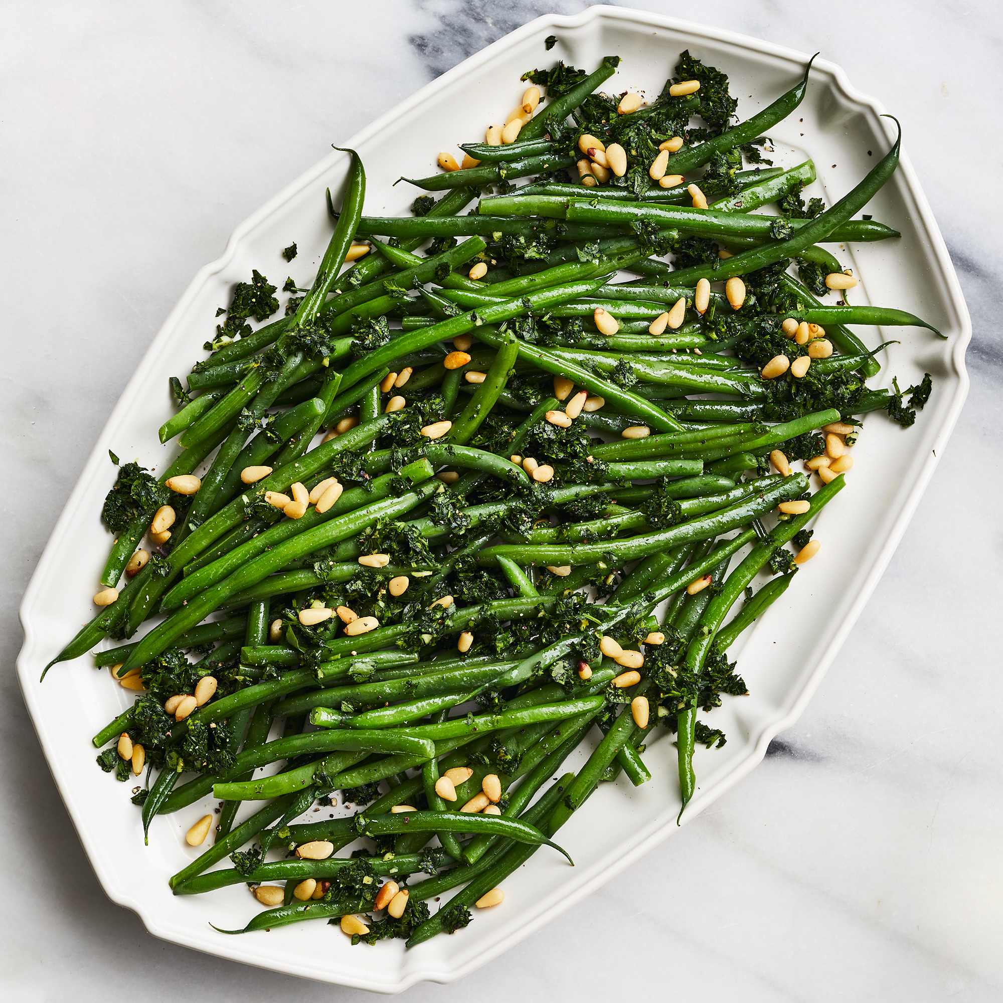 Green Beans with Pine Nuts & Gremolata