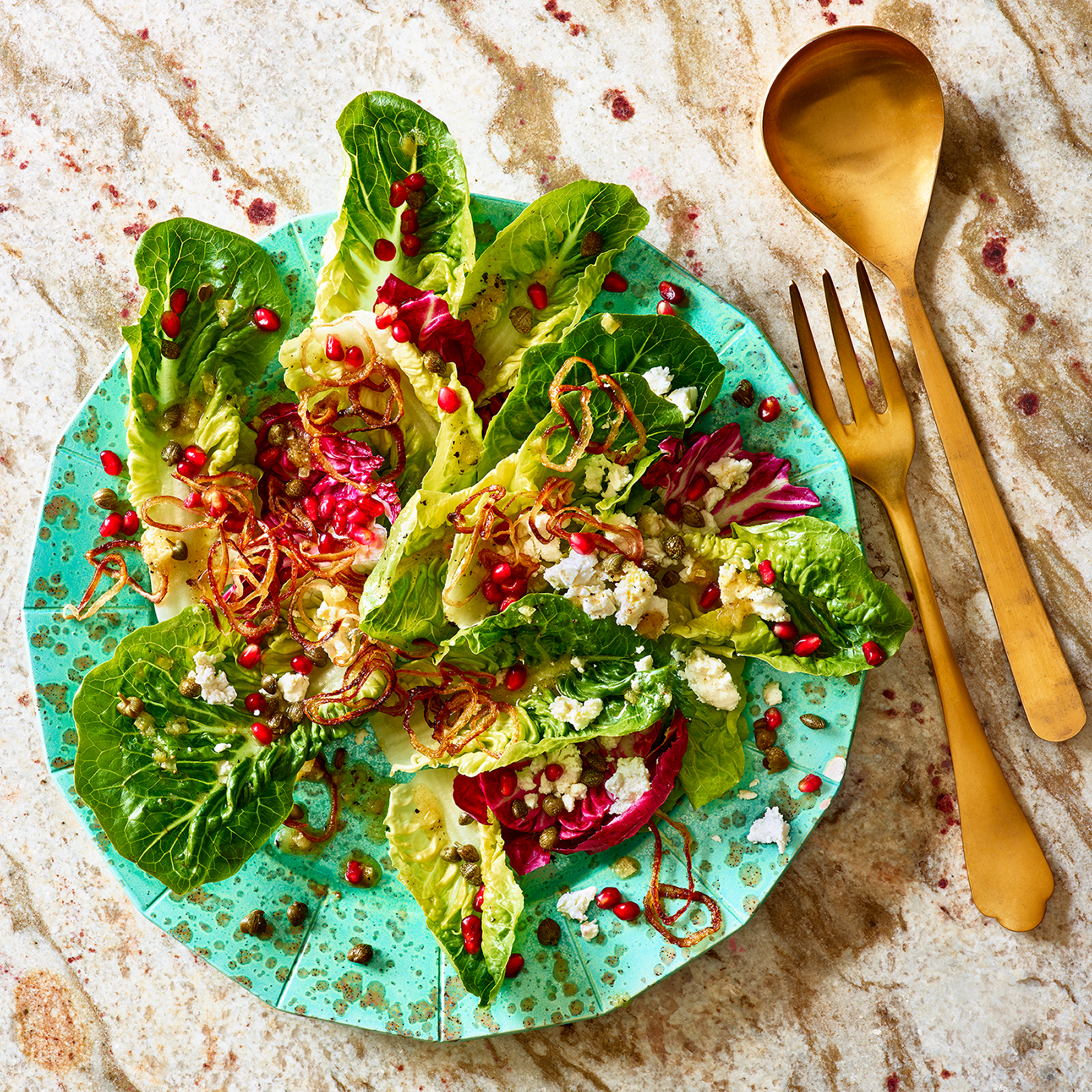 Mixed Greens with Preserved Lemon Dressing & Feta
