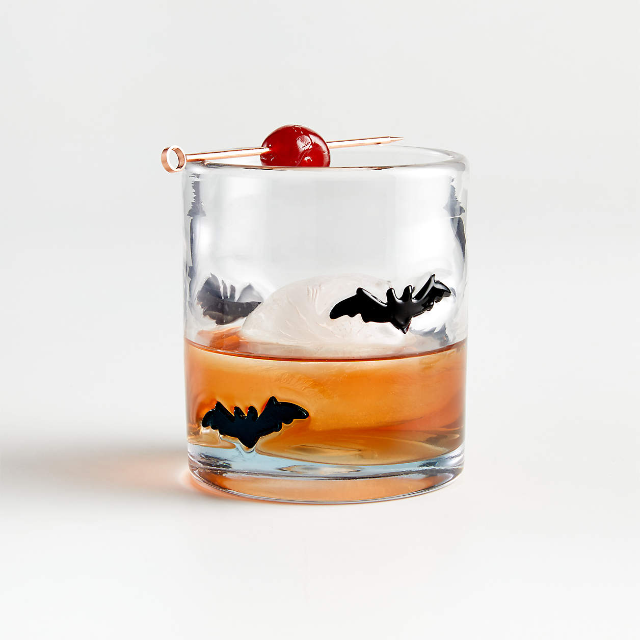 crate and barrel bat drinking glasses