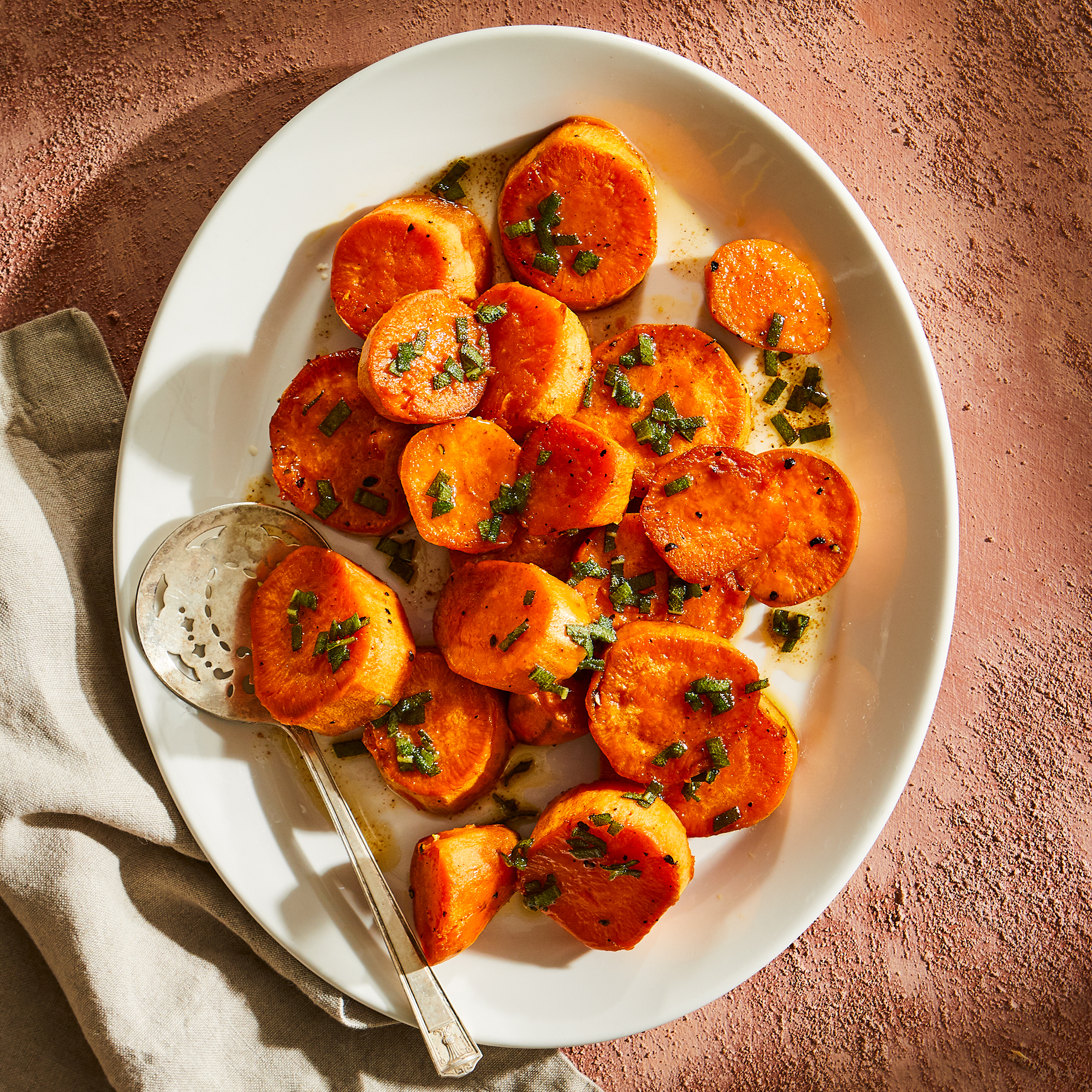 Melting Sweet Potatoes with Sage Brown Butter