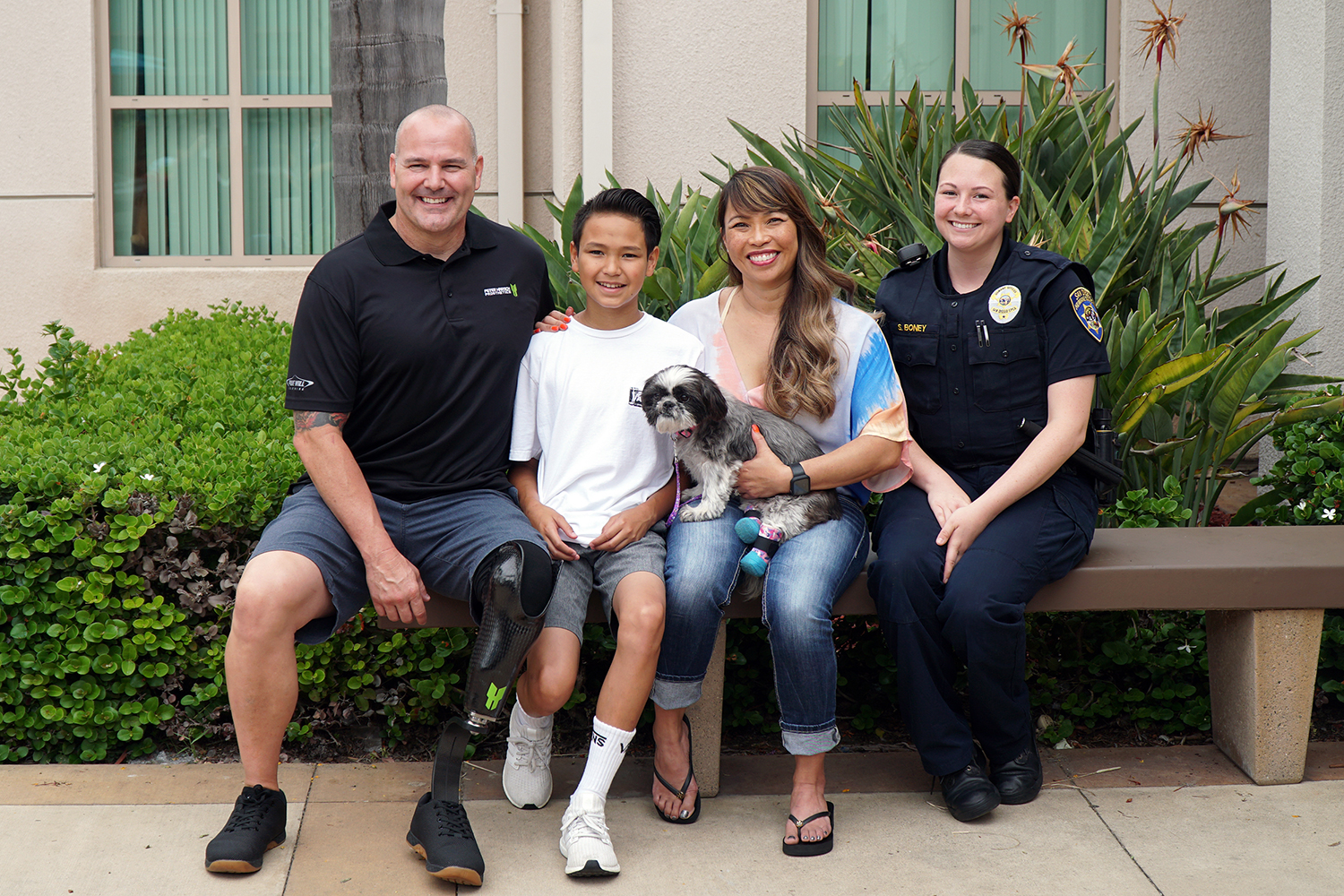 Amputee Dog Adopted By Detective with Prosthetic