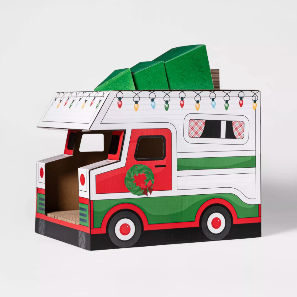 christmas cat house camper