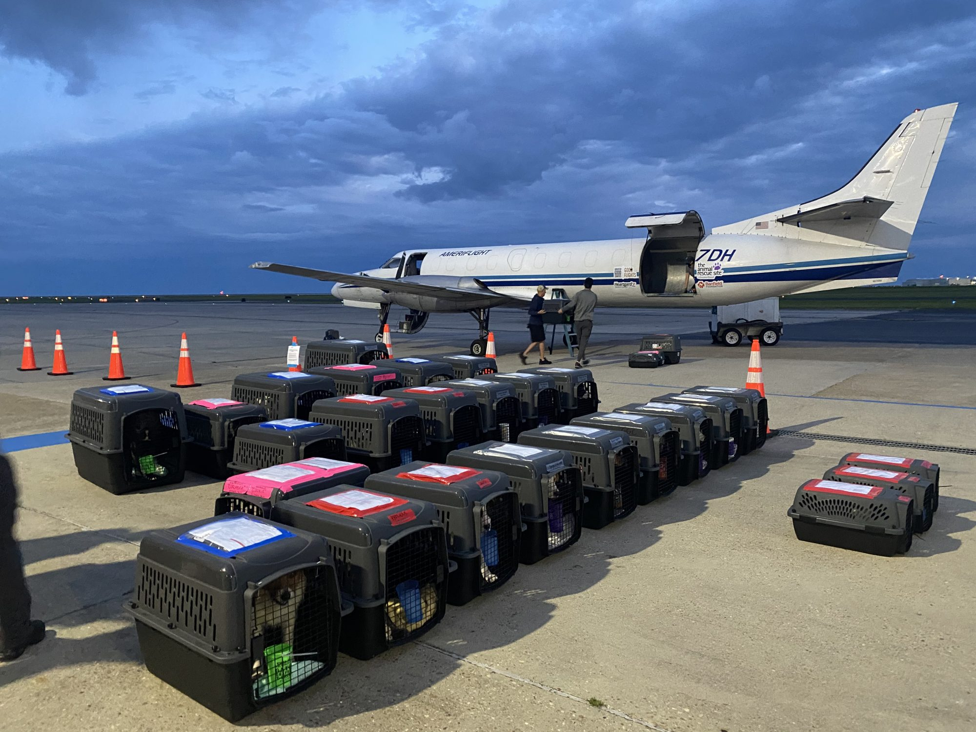 Crates on Tarmac in New Orleans