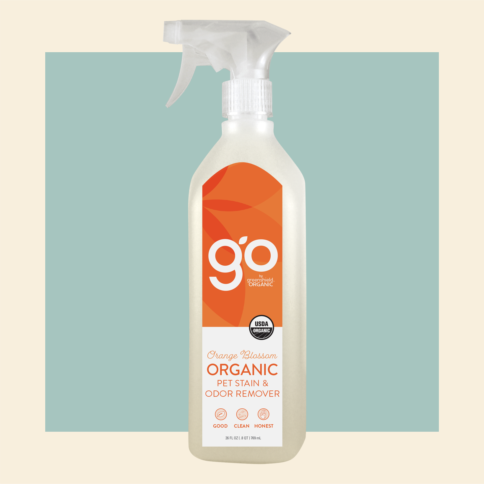 go organic pet stain and odor remover