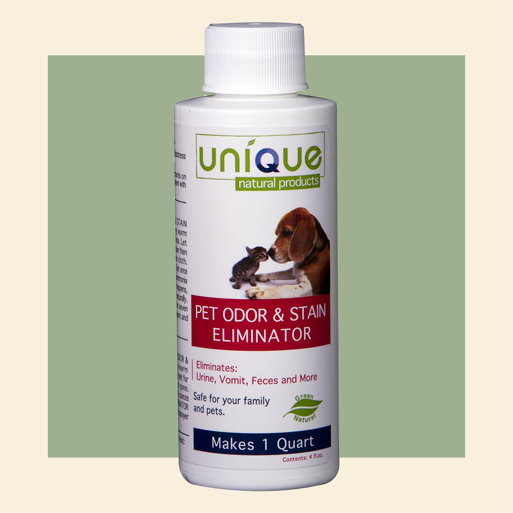 unique natural pet odor and stain eliminator