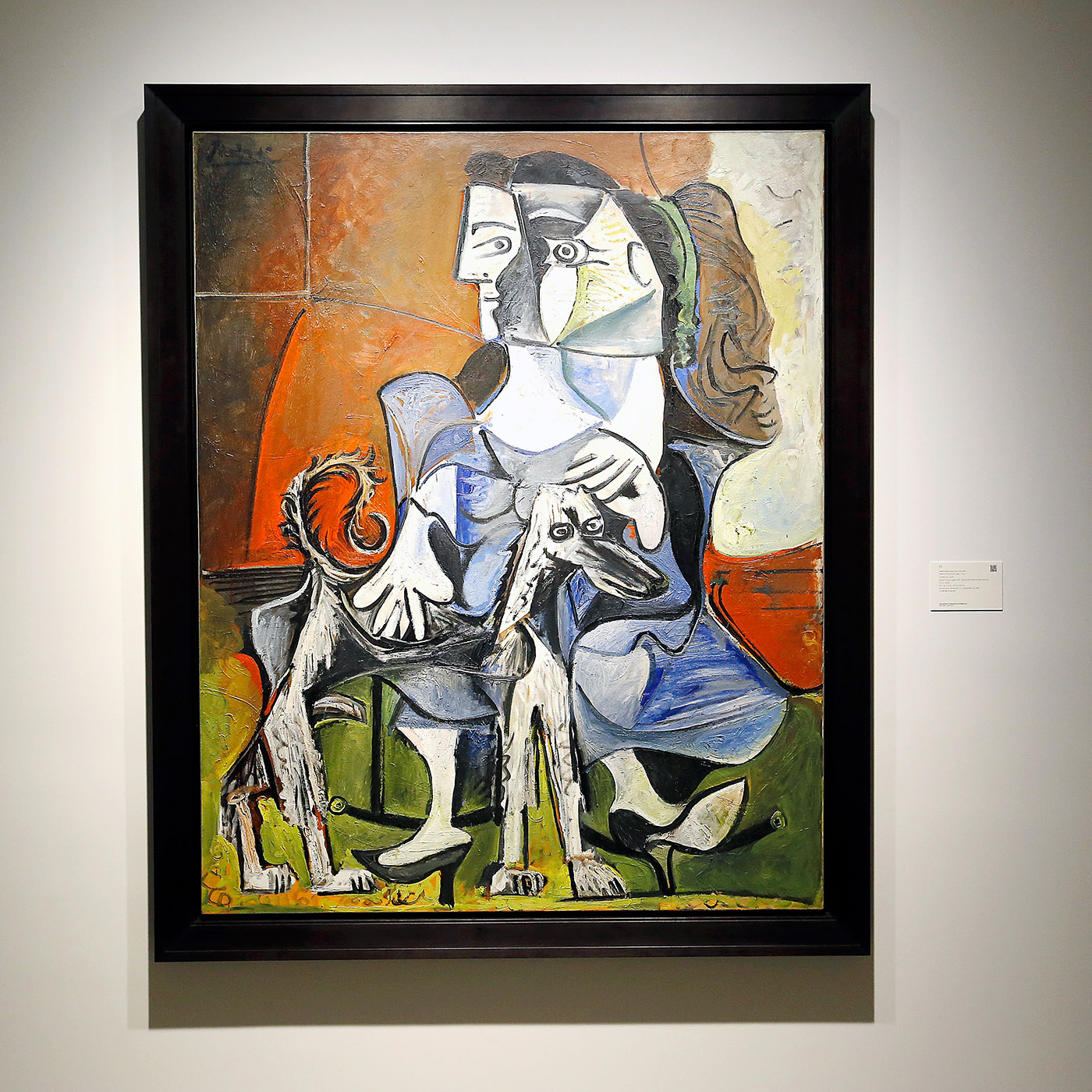 pablo picasso painting featuring afghan hound
