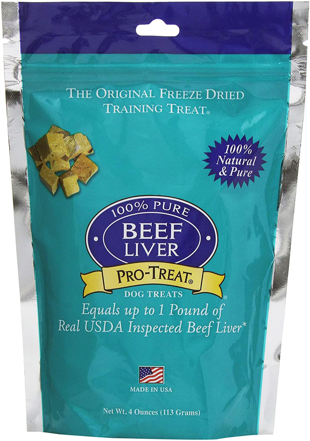 pro treat beef liver package