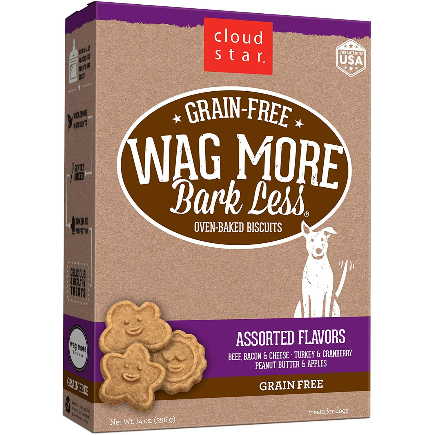 Cloud Star Wag More Bark Less Oven-Baked Biscuits Assorted Flavors