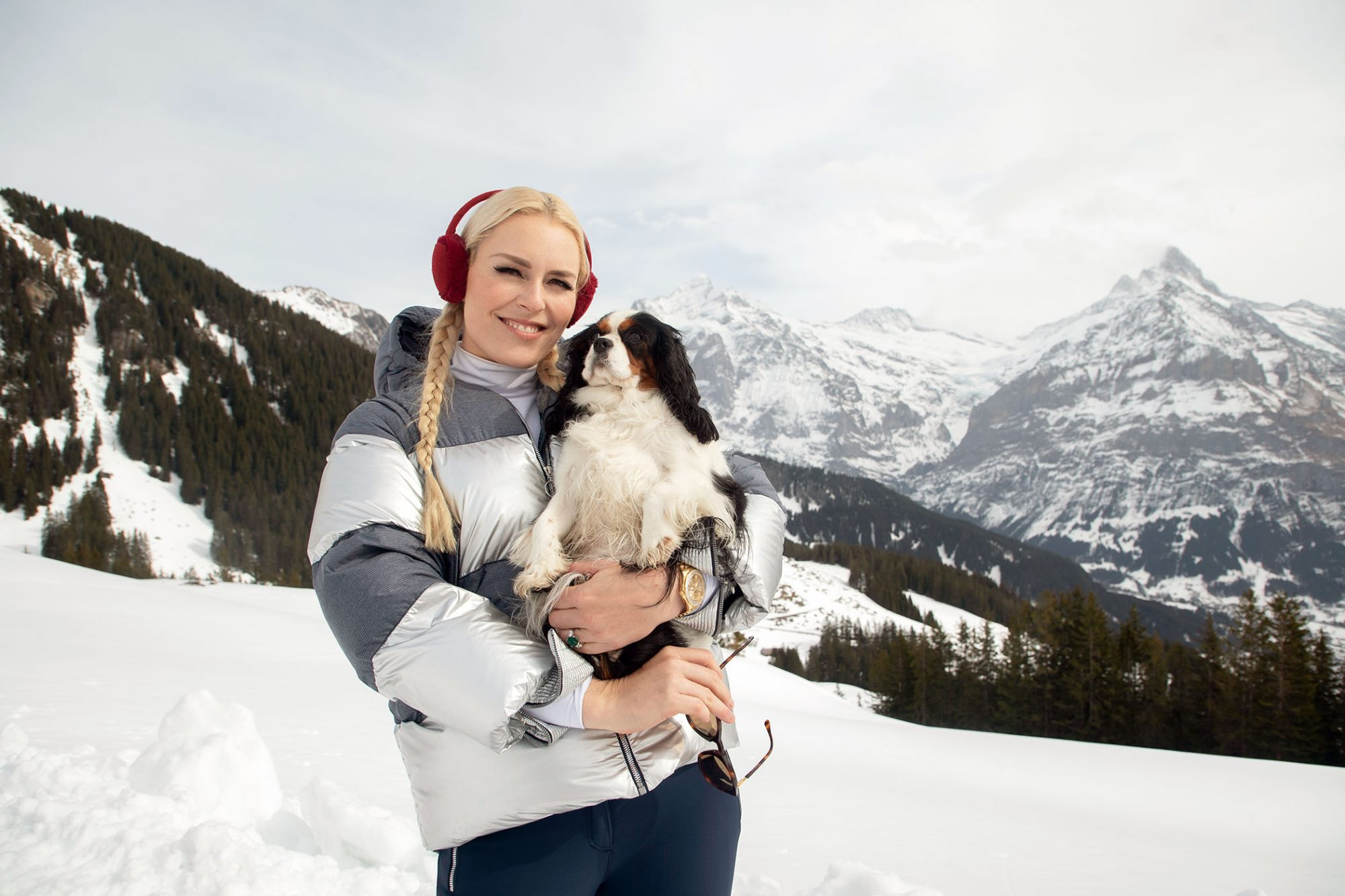 Lindsey Vonn and her dog Lucy host The Pack on Amazon Prime Video