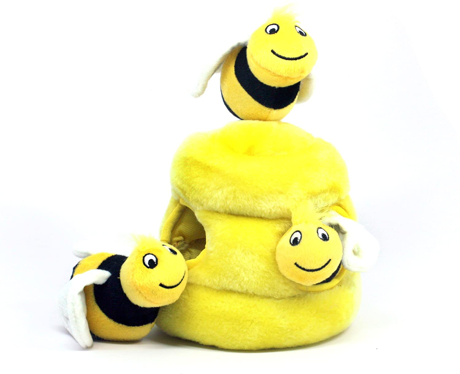 Outward Hound Hide-A-Bee Squeaky Puzzle Plush Dog Toy