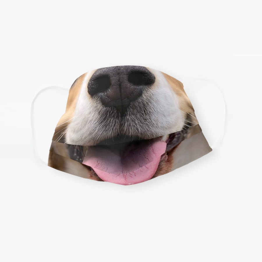 Funny dog puppy nose mouth smile muzzle cloth face mask