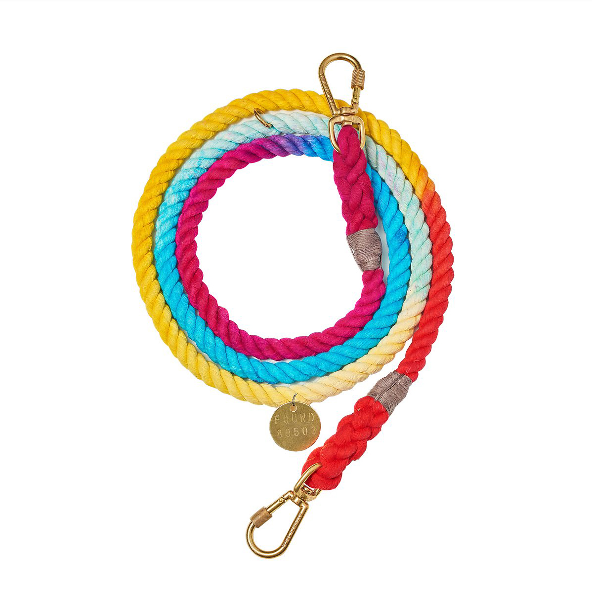 Found My Animal Adjustable Ombre Rope Dog Leash