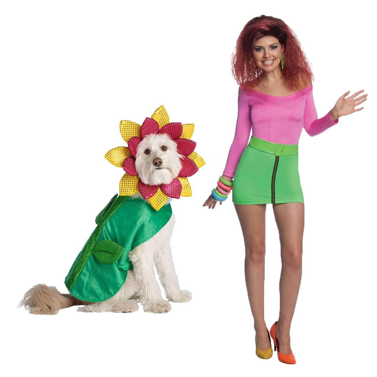 Katy Perry and Daisy dog and owner Halloween costumes