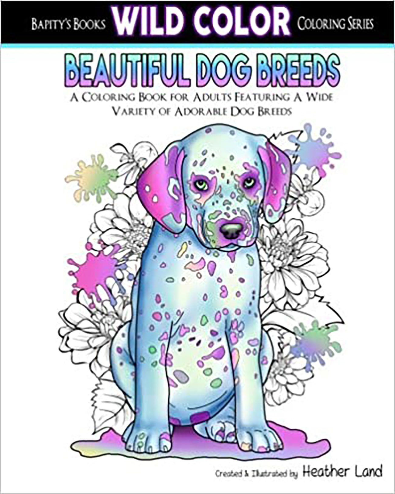 Beautiful Dog Breeds: Adult Coloring Book