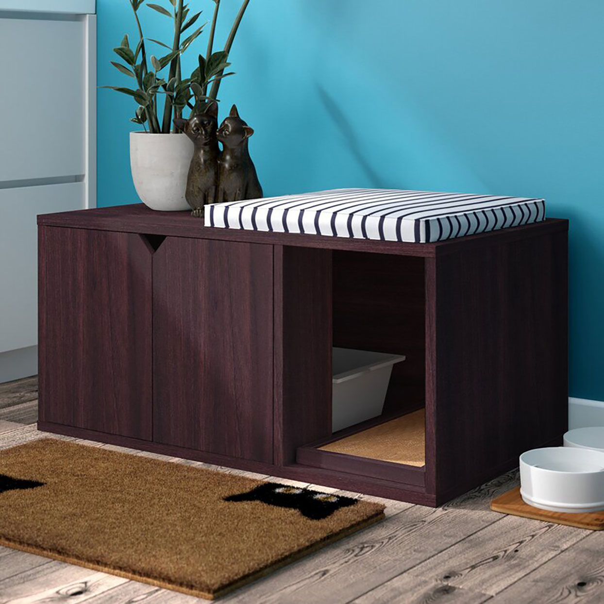 grinnell paperboard litter box enclosure