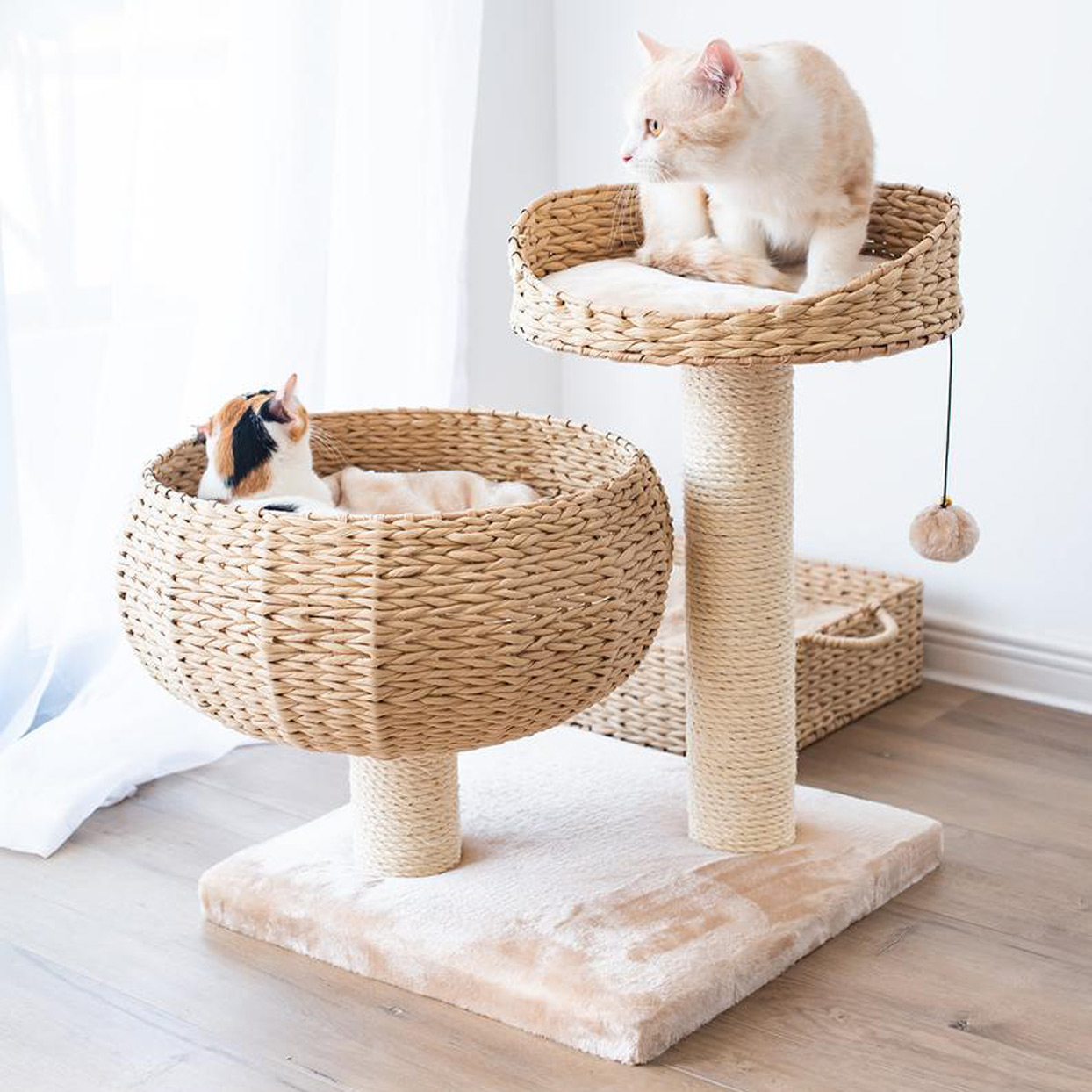 Petpals Cozy 2 level Cat Tree