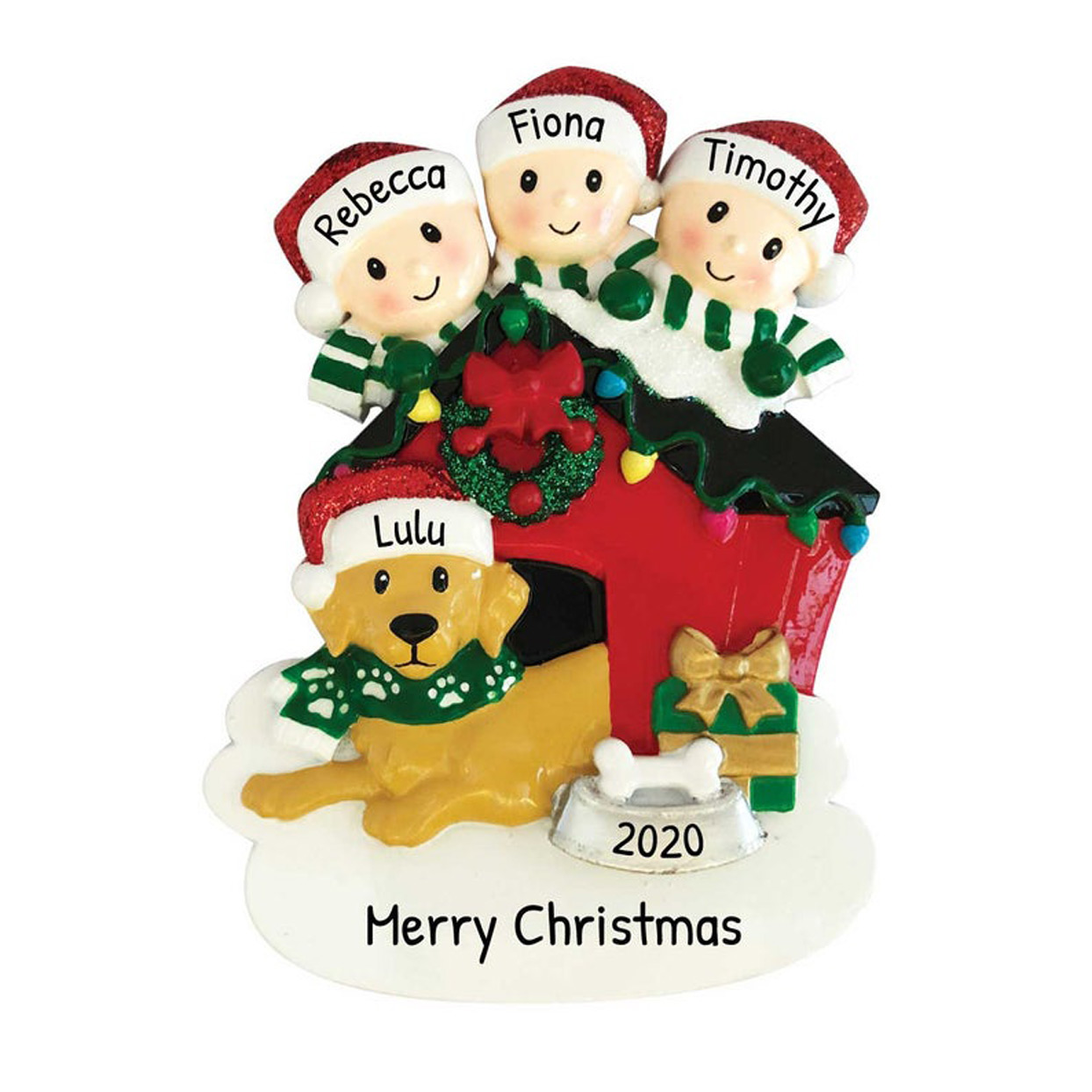 personalized-family-with-dog-ornament