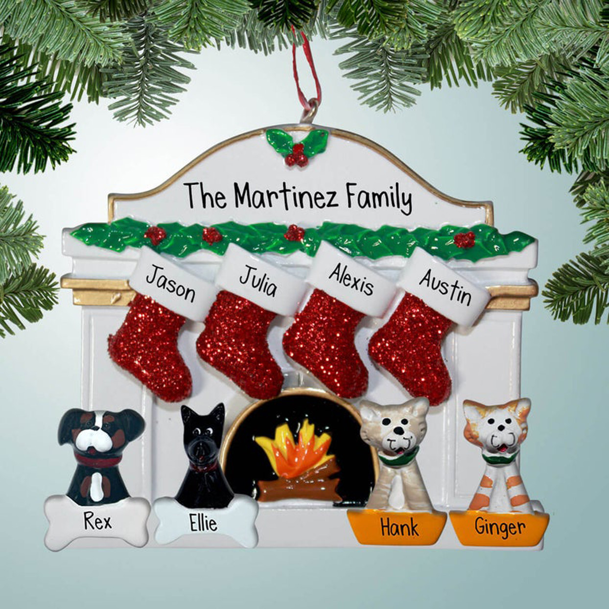 red-stocking-ornament-with-up-to-four-pets