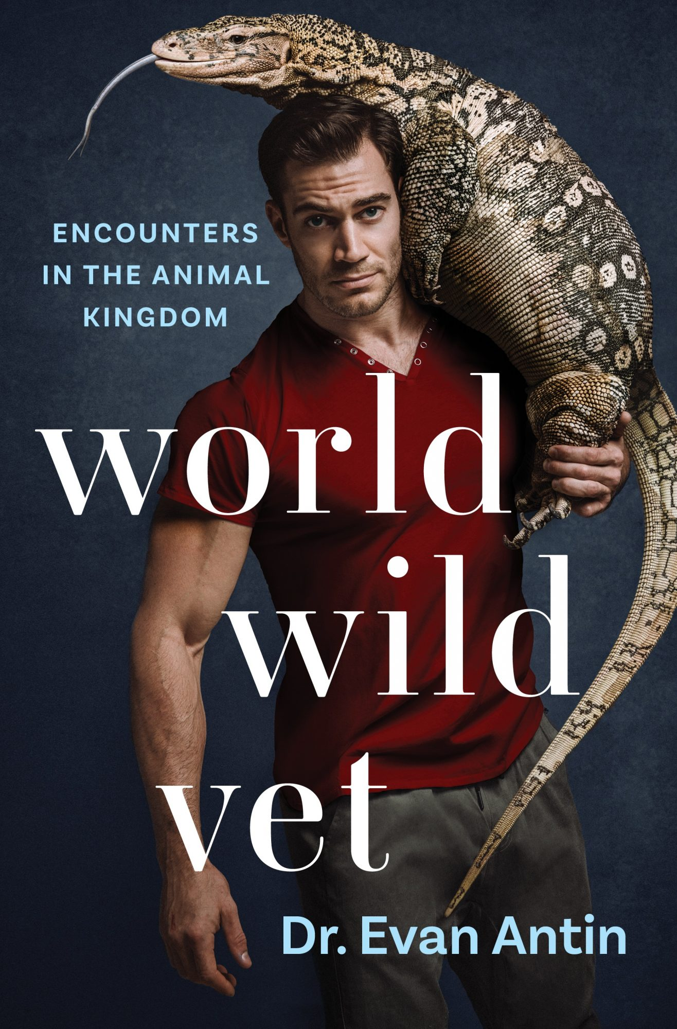Dr. Antin pictured on the cover of new book, World Wide Vet
