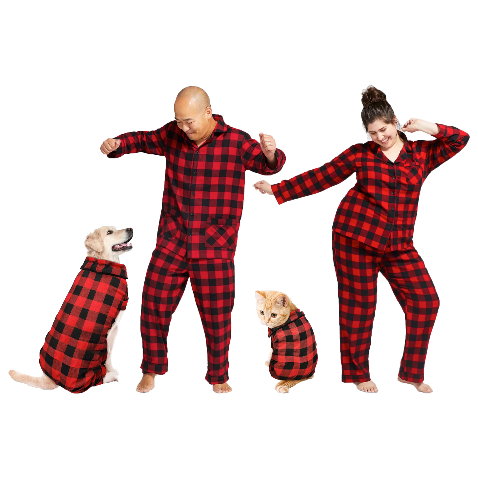 holiday-buffalo-check-flannel-dog-and-cat-family-pajamas