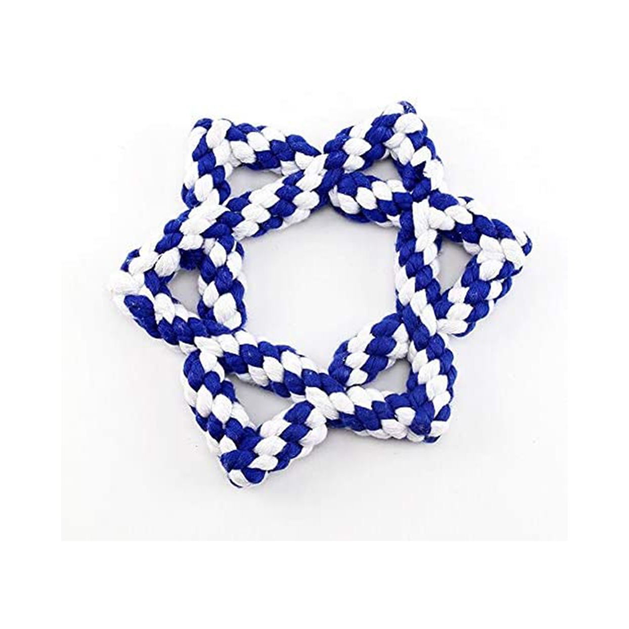 star of david rope dog toy