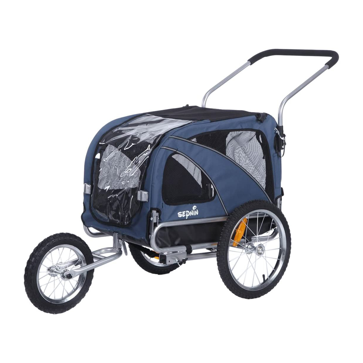 sepnine-2-in-1-medium-pet-trailer-stroller