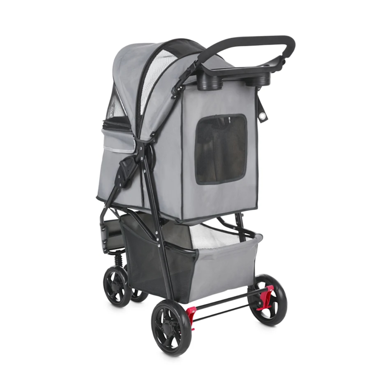 good2go-paws-up-reflective-gray-cat-stroller