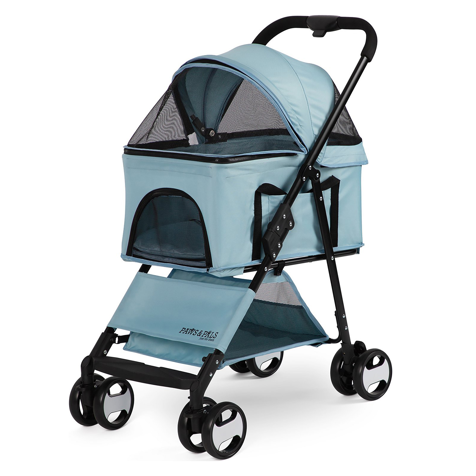 paws-and-pals-2-in-1-detachable-cat-stroller-and-carrier