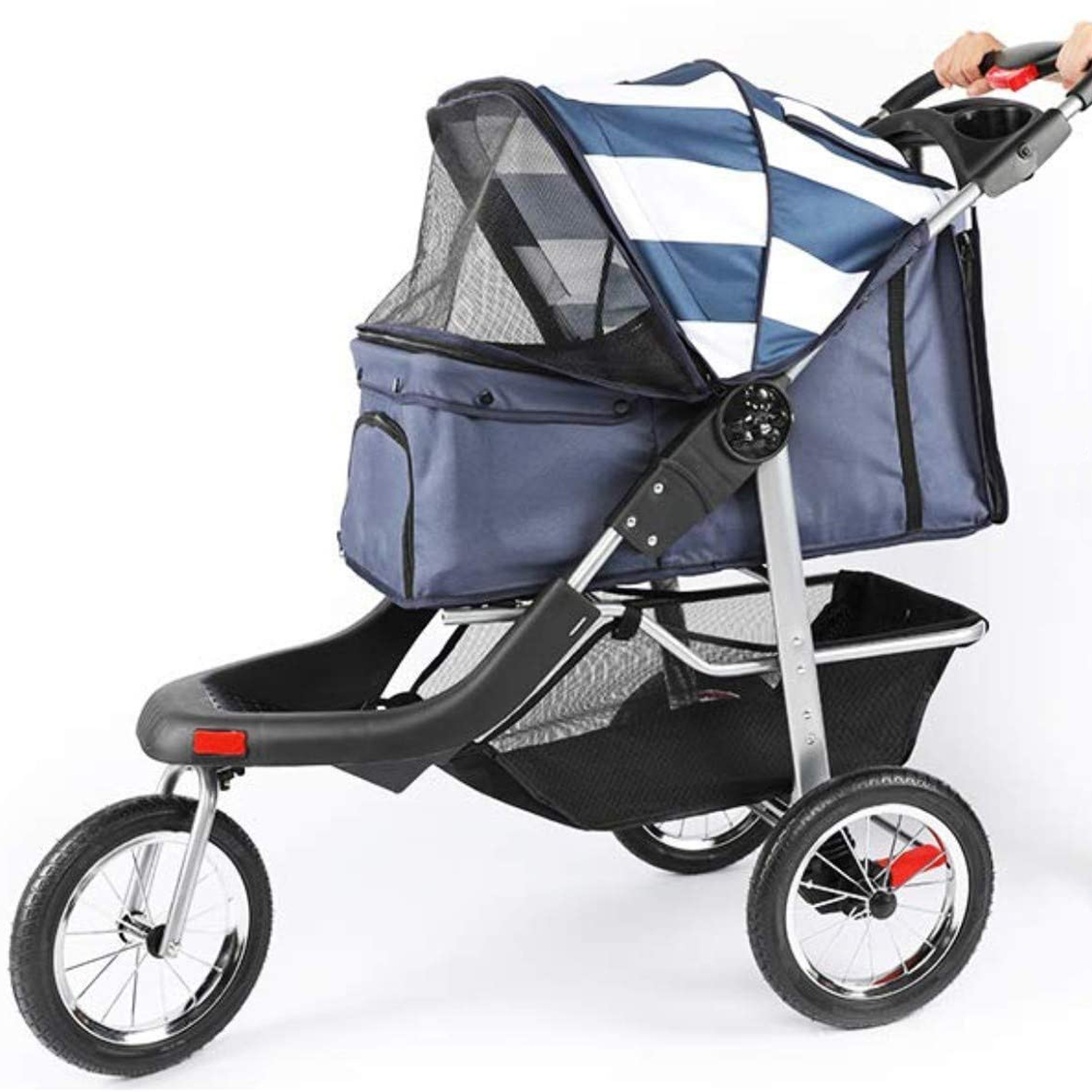 tubytime-foldable-pet-stroller-with-waterproof-cat-carrier