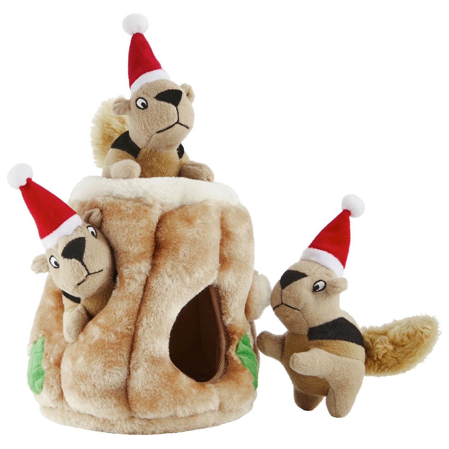 outward-hound-holiday-hide-a-squirrel-puzzle-dog-toy