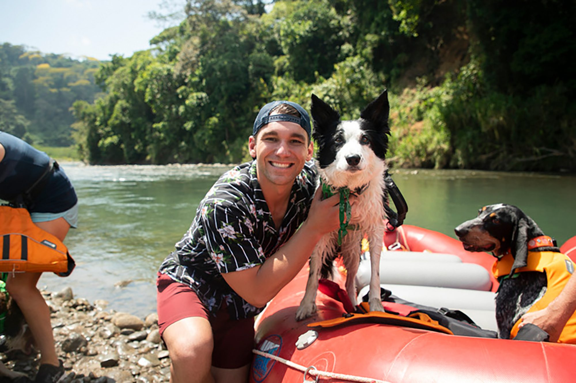 Mark LeBlanc and his border collie, Ace, in Costa Rica
