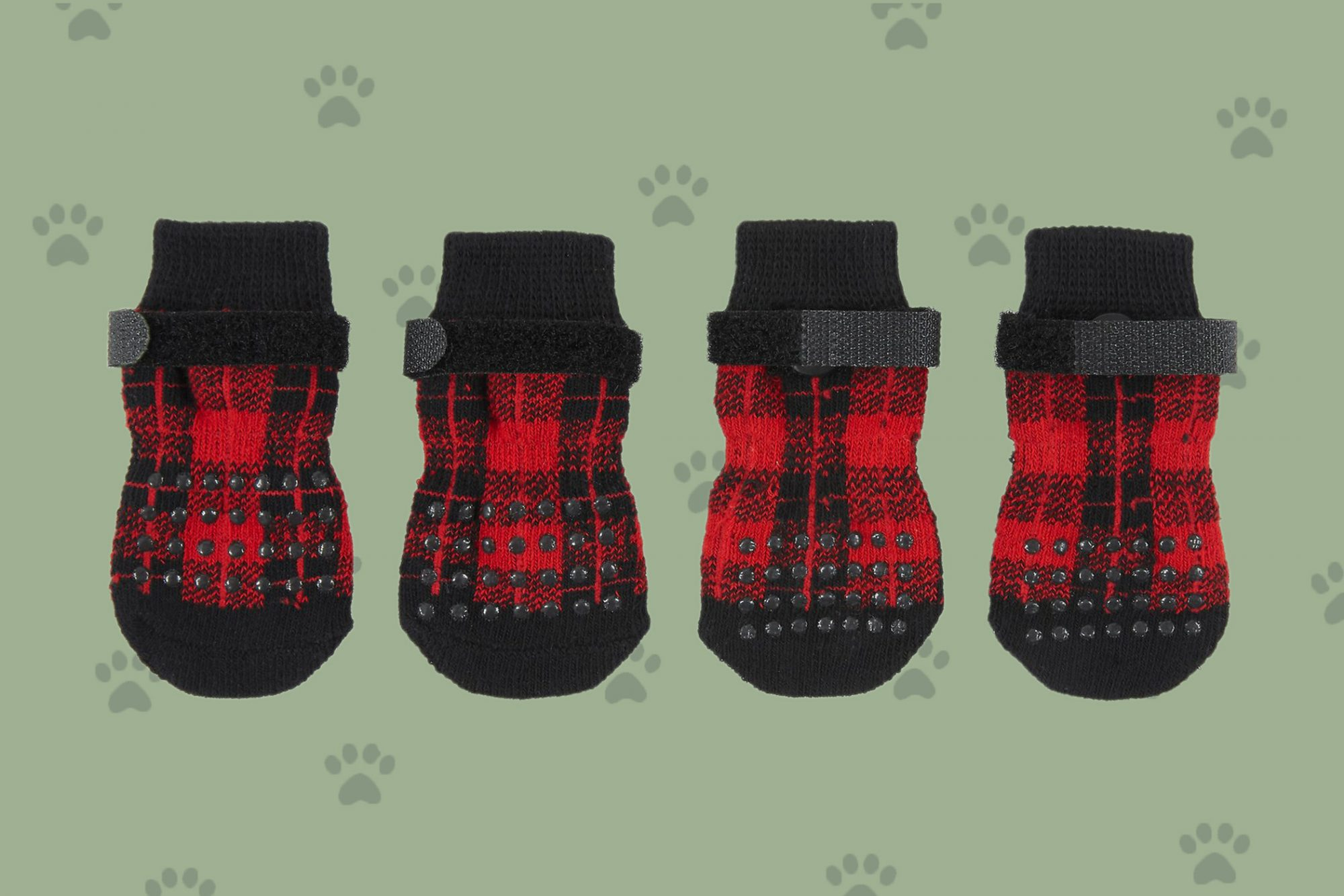 Illustration of four dog socks