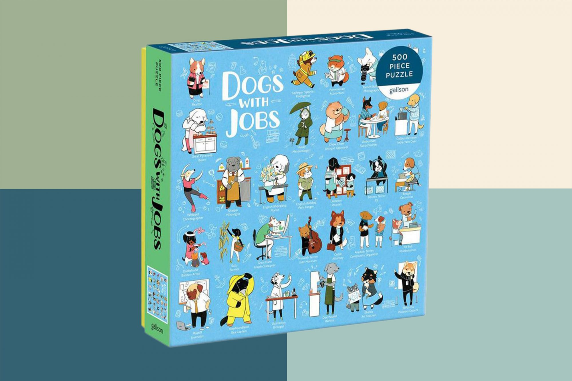 Picture and illustration of Dogs With Jobs puzzle