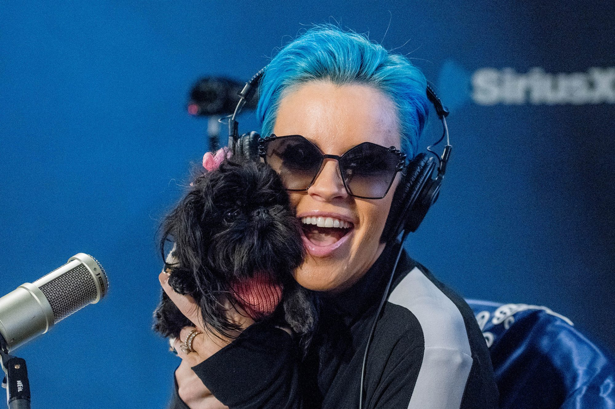 Jenny McCarthy with her dog