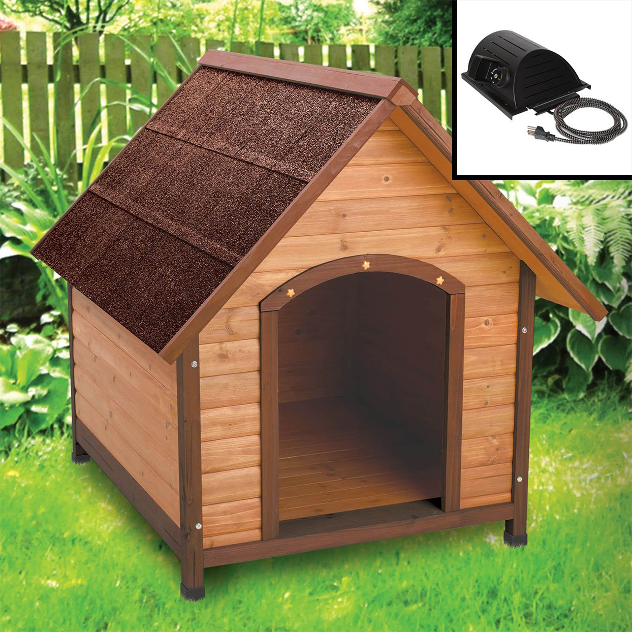ware premium a frame doghouse with heater