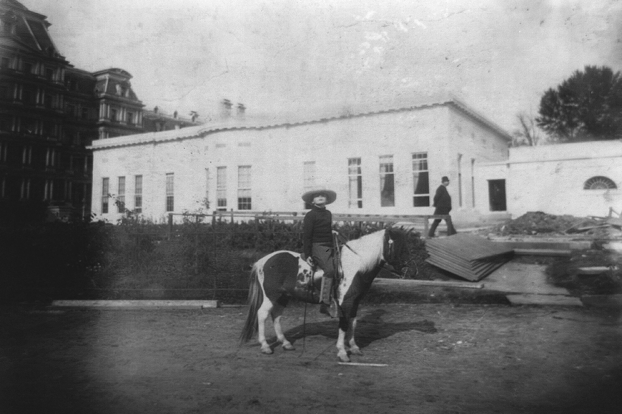 Photograph of young Theodore Roosevelt on a horse