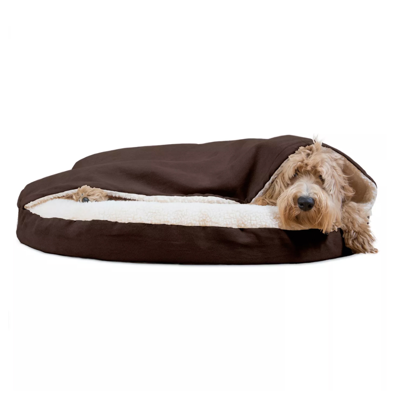 furhaven-faux-sheepskin-snuggery-orthopedic-dog-bed