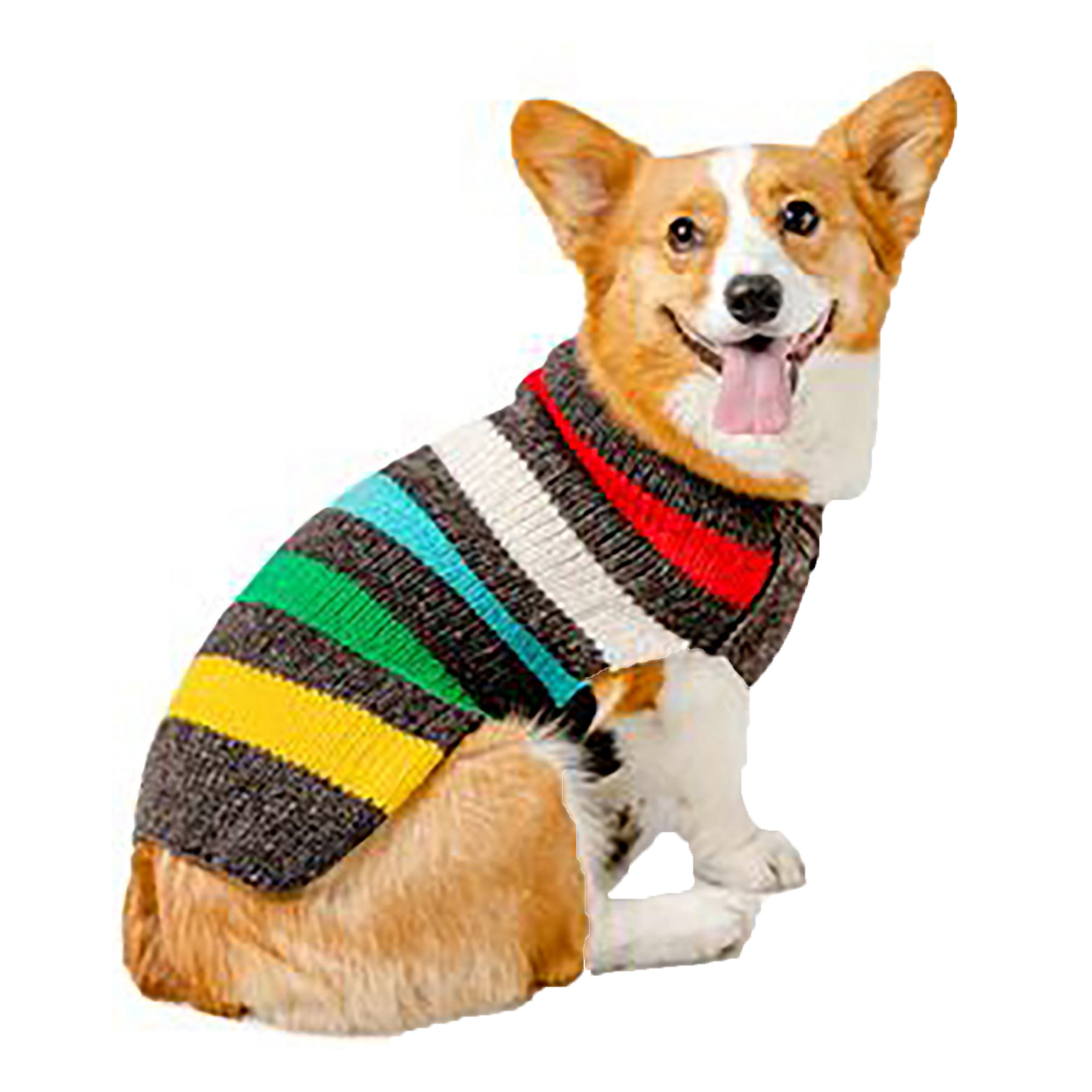 chilly-dog-charcoal-striped-wool-sweater