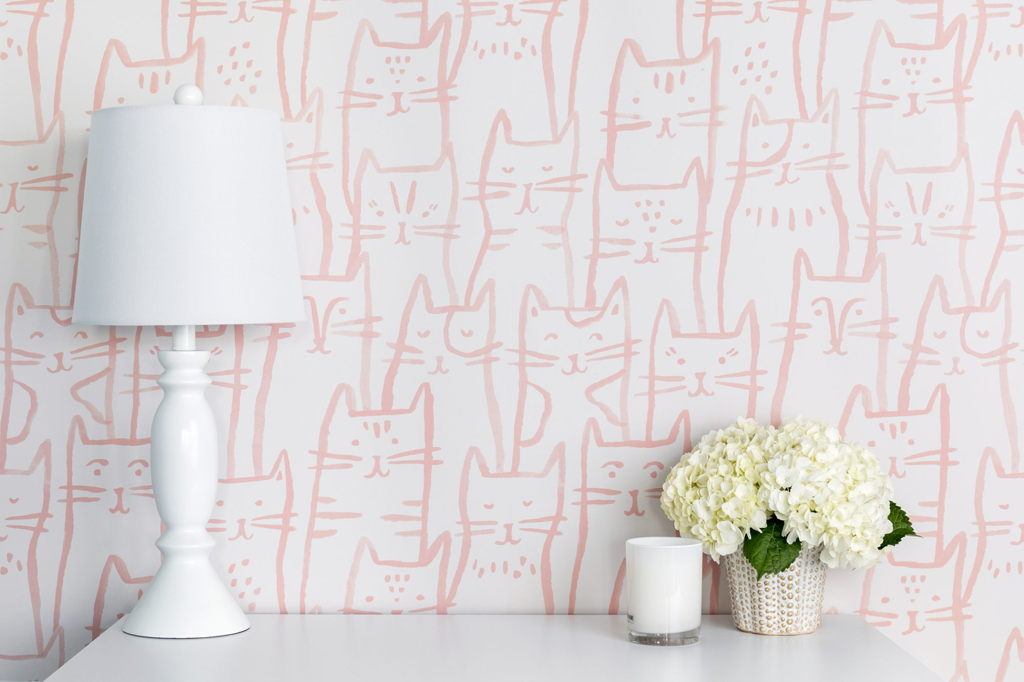 Photo of pink cat wallpaper