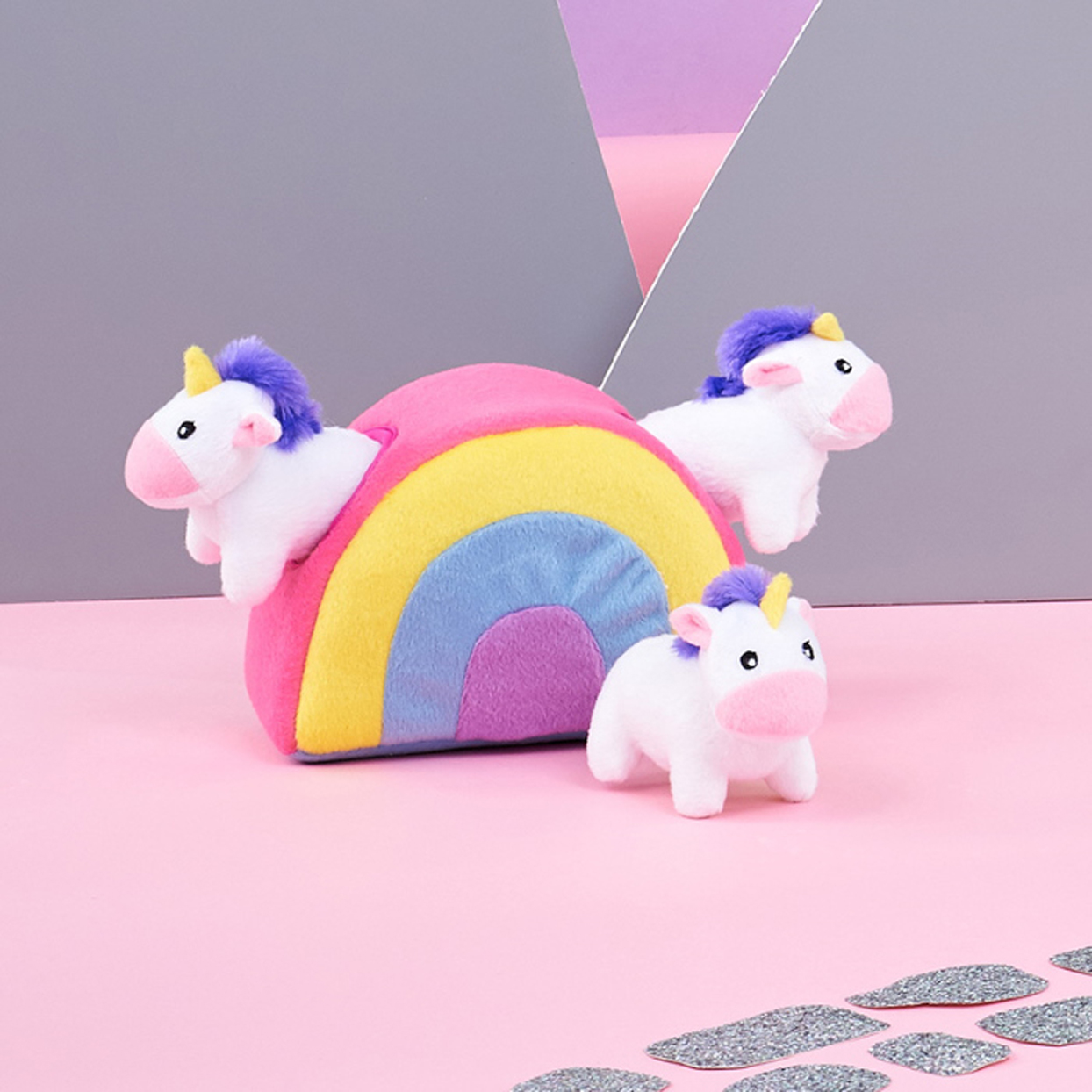 zippypaws-burrow-interactive-squeaky-hide-and-seek-unicorn-toy