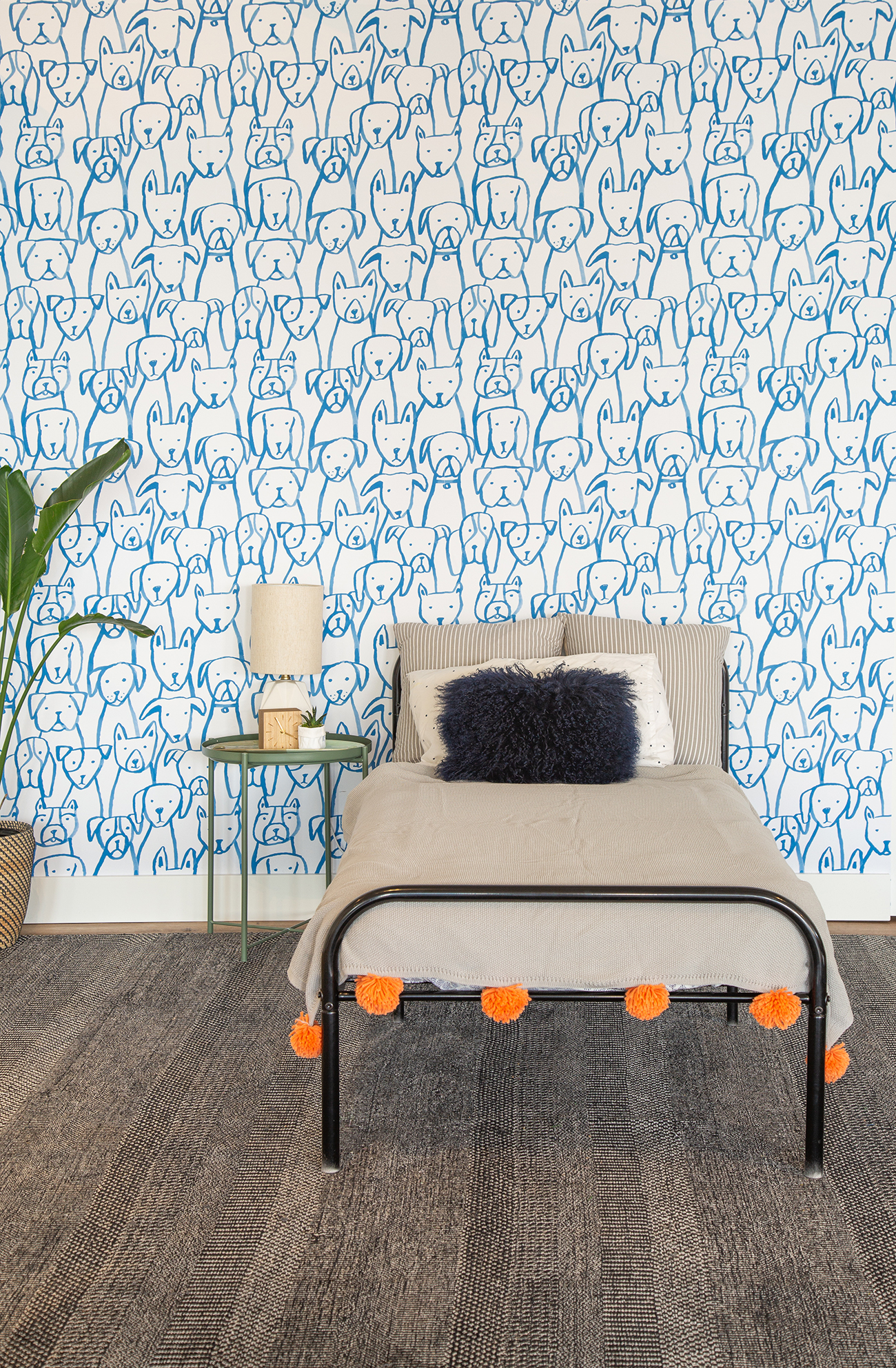 puppy patterned wallpaper