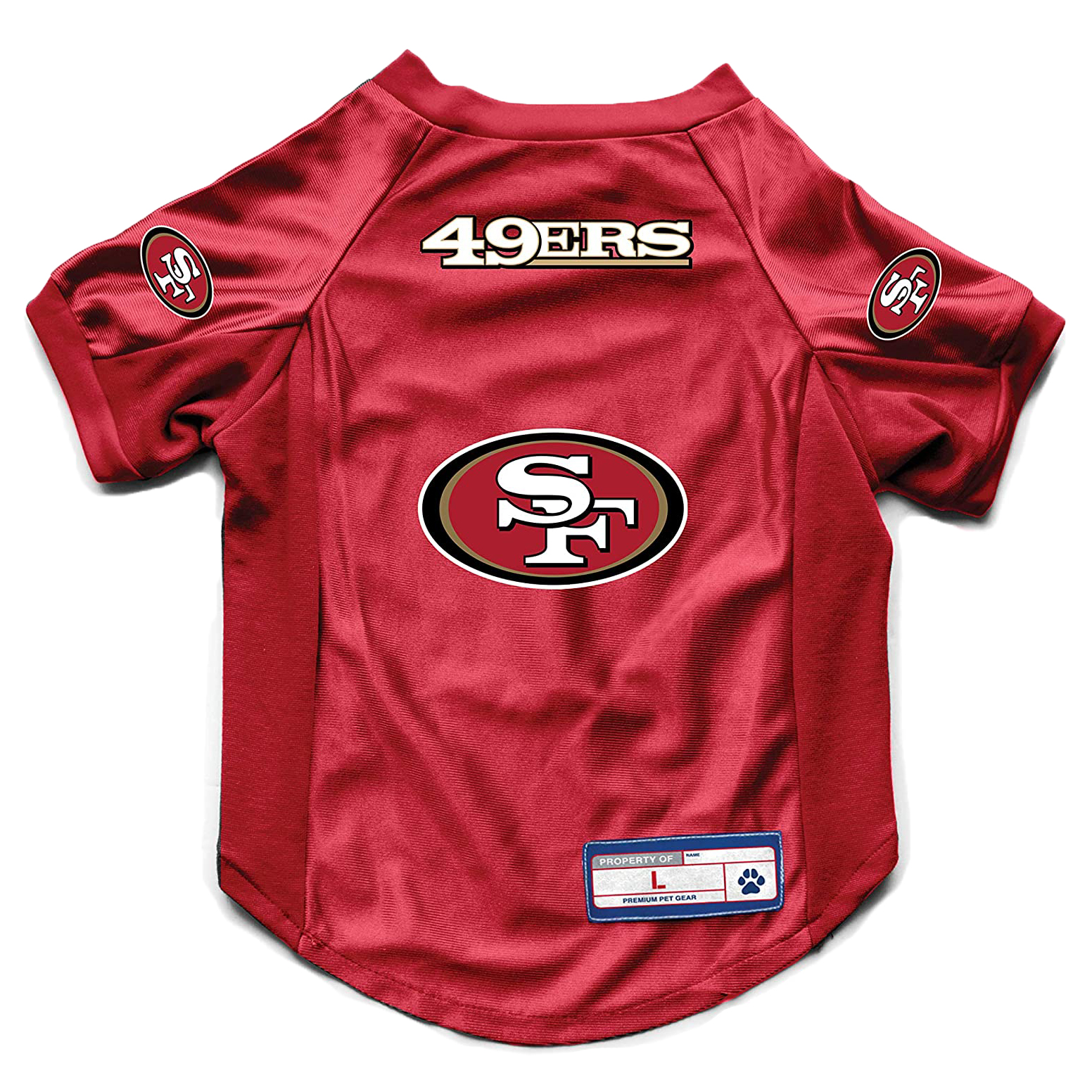 littlearth-nfl-49ers-pet-stretch-jersey