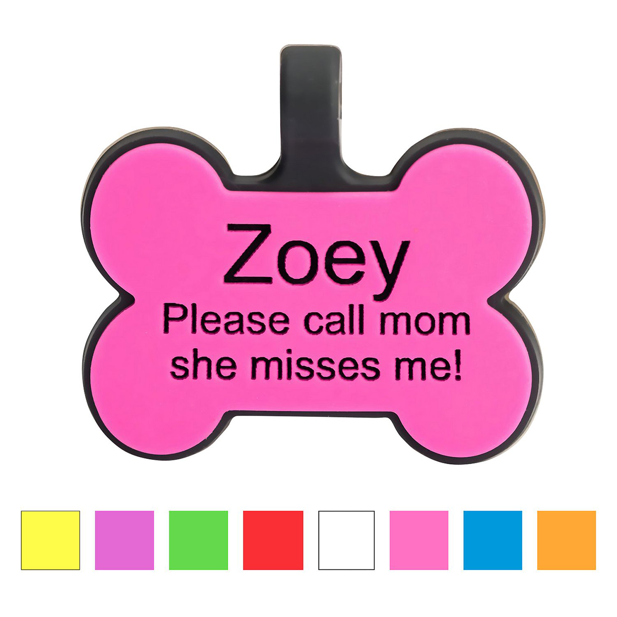 silicone personalized dog id tag