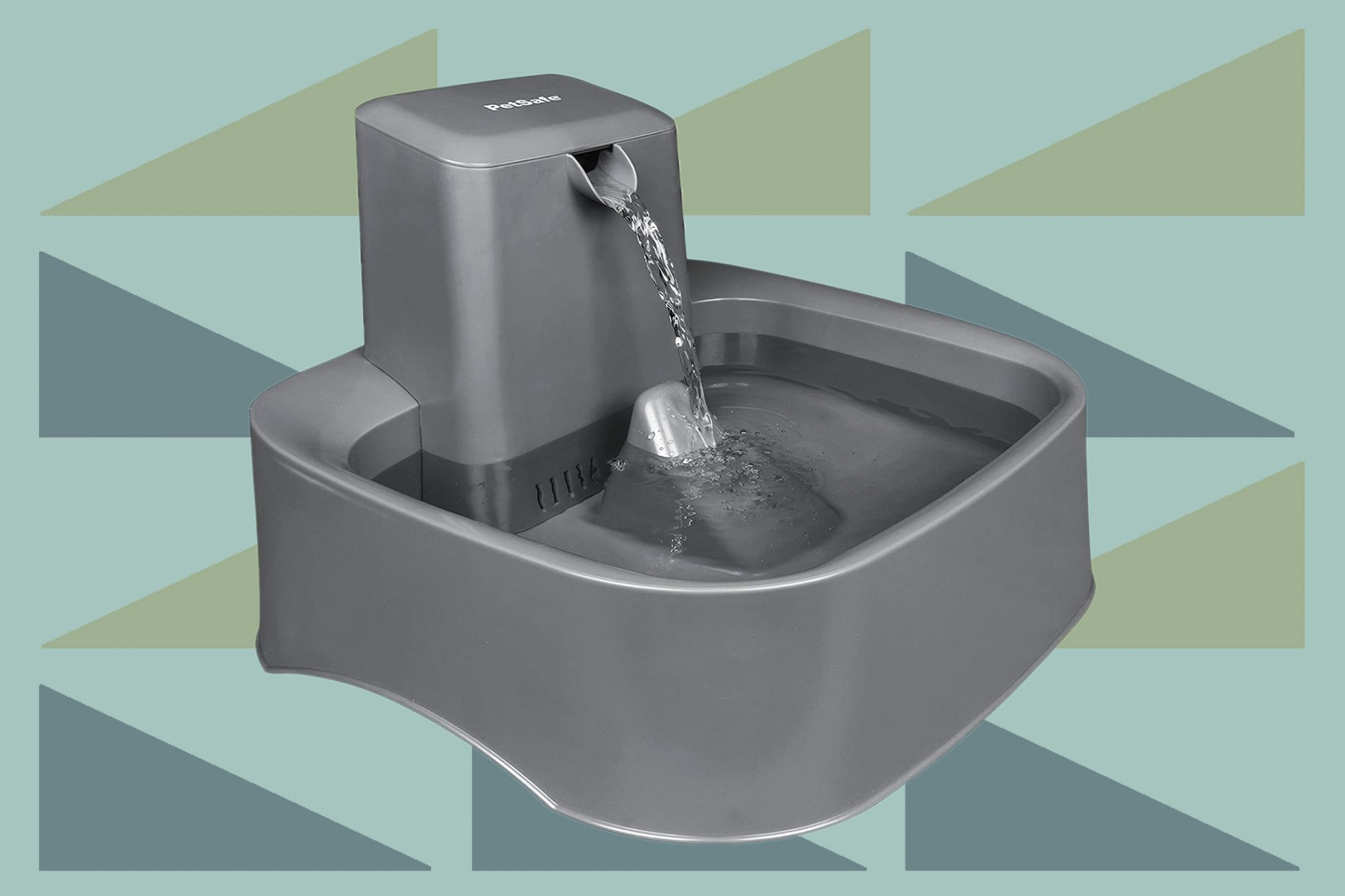 Product photo of a dog water fountain bowl