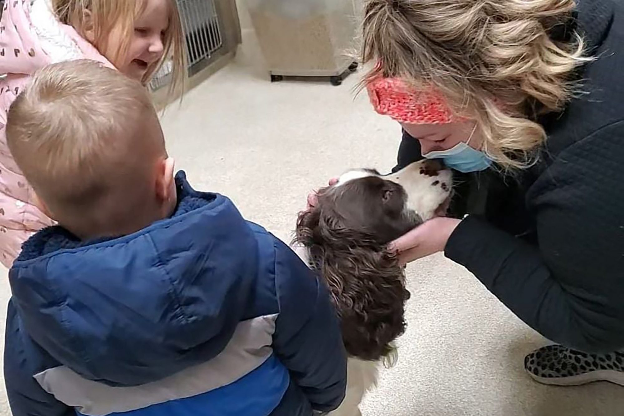 family seeing Milo after rescue