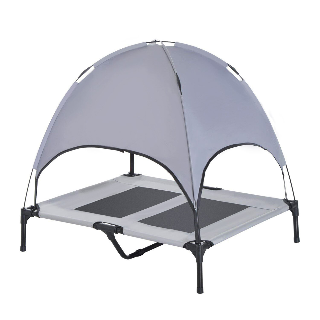Harter Cot Elevated Cooling Dog Bed with Canopy Shade