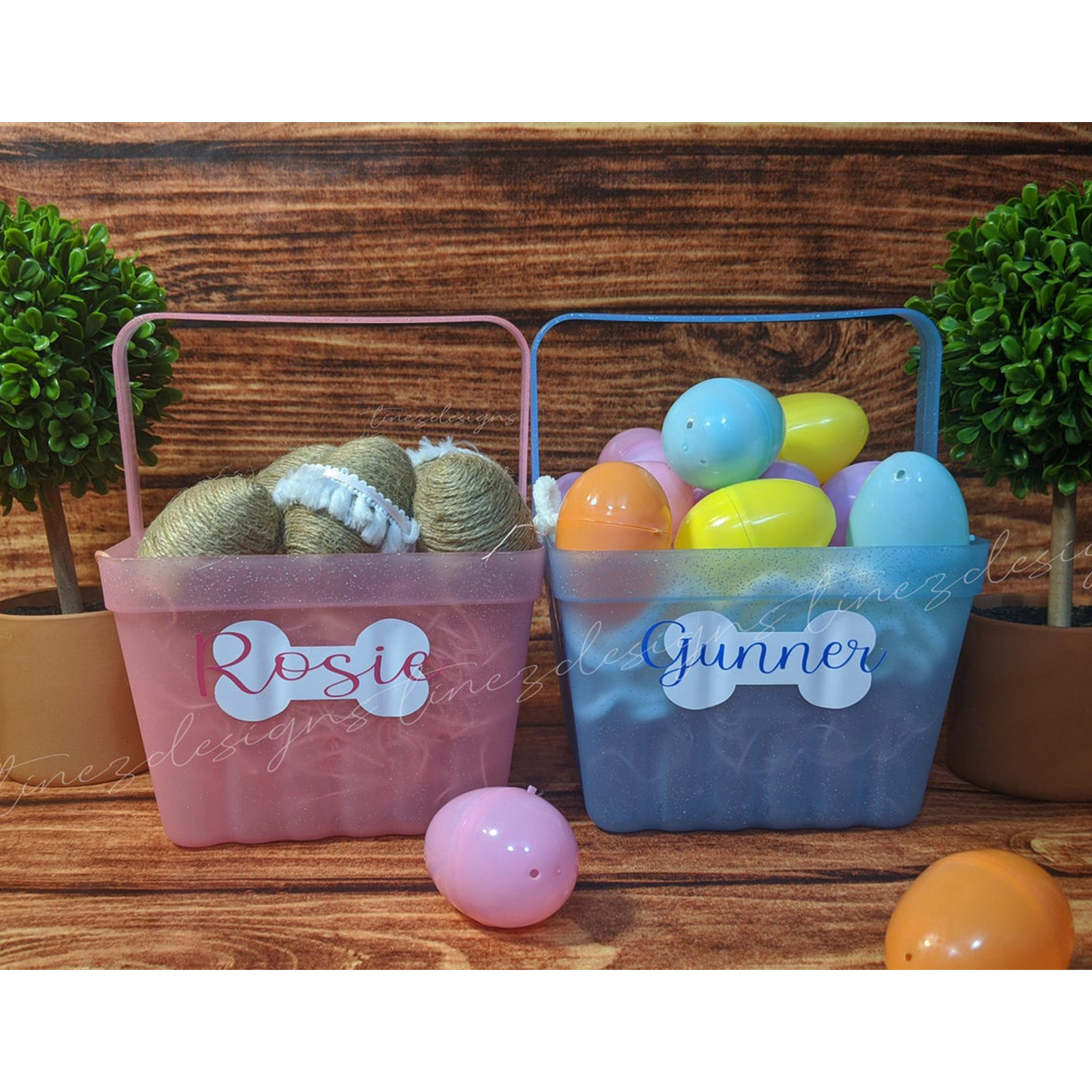 personalized dog easter basket