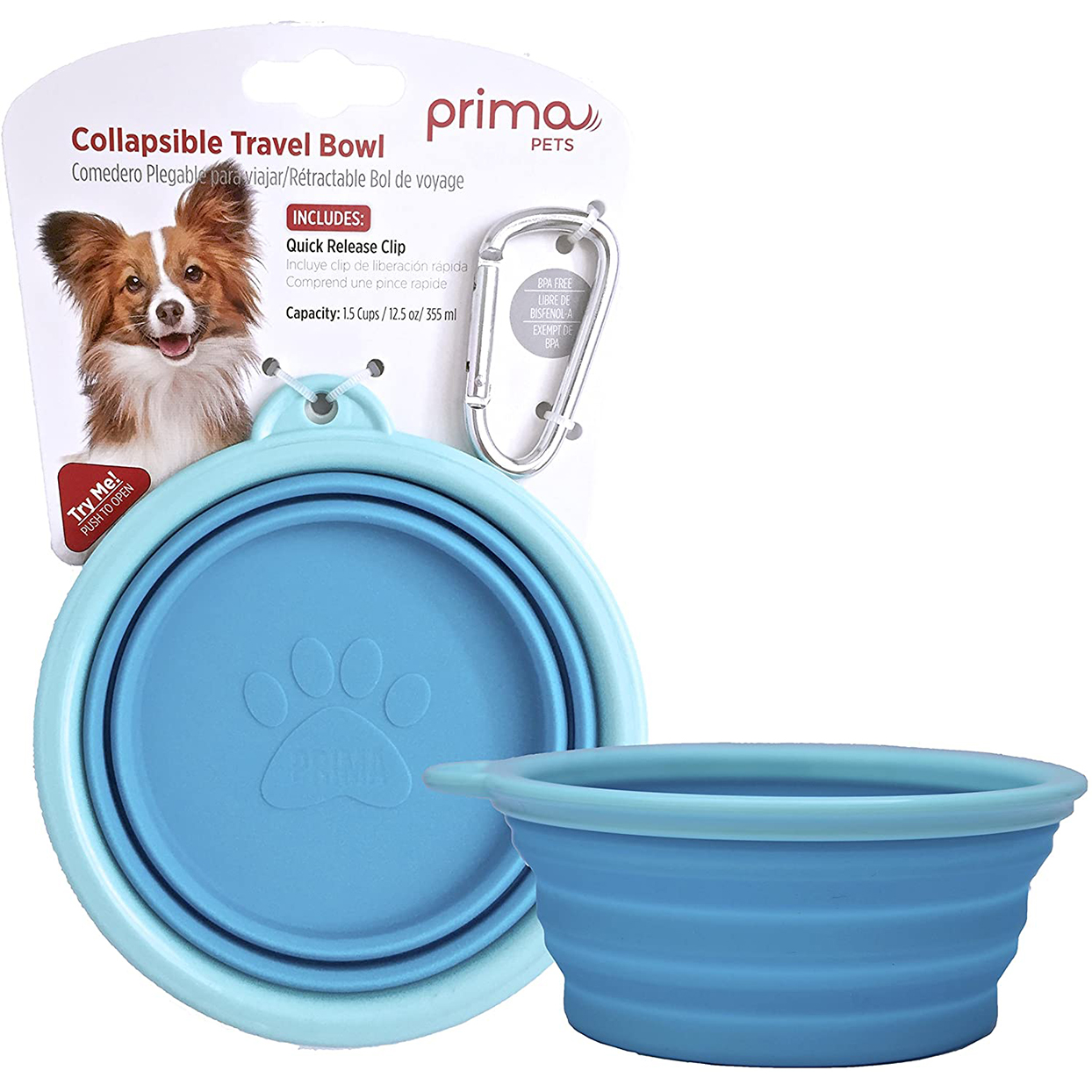 prima pets collapsible silicone water bowl