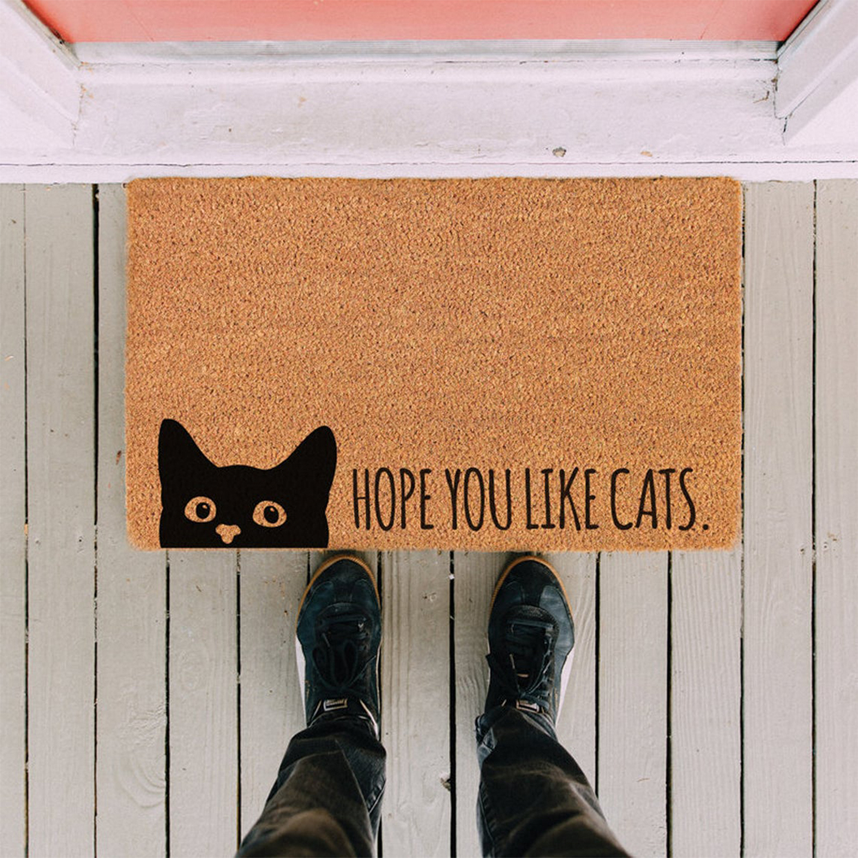 Custom cat doormat